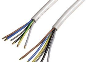 Xavax Solides Anschlusskabel für Elektroherd, Elektroherd-Zuleitung, H05VV-F, 1,5 m, Weiß
