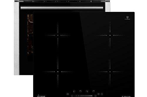 Autarkes Herdset: 60cm Einbau-Backofen EB8010ED + 59cm Induktionskochfeld KF5900IND (Heißluft, Grill-/Bratsystem, Automatik-Timer, Teleskopauszüge) SET80101IND2 - KKT KOLBE